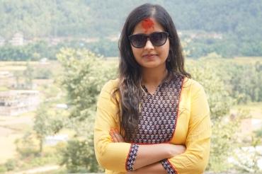 The red Dashain Tika